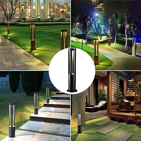 Lighting LED Paisaje Luz de jardín Impermeable al Aire Libre para césped Decoración Patio Camino de Navidad Villa Jardín Iluminación Bolardos Lámparas,L: Amazon.es: Hogar
