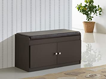 Miraculous Baxton Studio Margaret Modern Contemporary Wood 2 Door Shoe Cabinet With Faux Leather Seating Bench Dark Brown Pdpeps Interior Chair Design Pdpepsorg