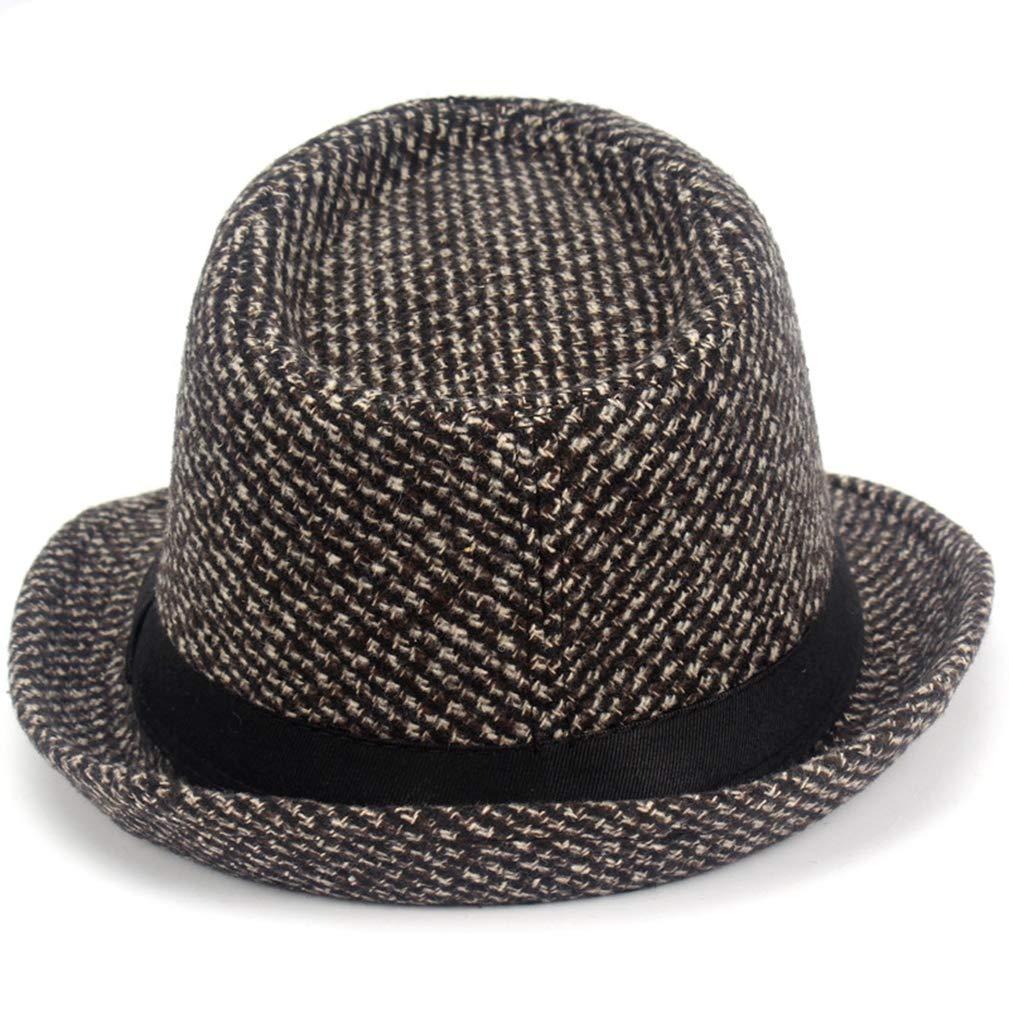 Fedoras Fashion Knitting Dot Jazz Small Fedora Hat Men Womens Hats Popular Vintage Caps Brown