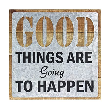 Cartel de Pared de Madera CFMUR, Texto en inglés Good Things Are ...