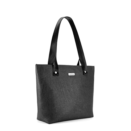 OUTLET - Bolso tote con luz interior - Color negro. Tamaño mediano. Asas cortas