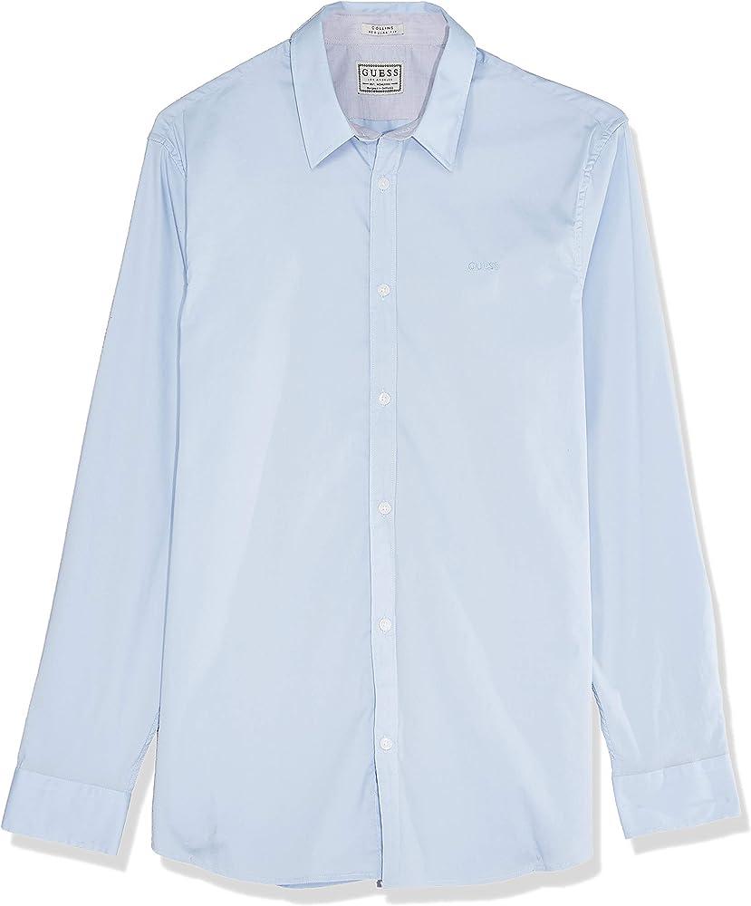 Guess M01H25 W7ZK0 Collins - Camisa para hombre azul S: Amazon.es: Ropa y accesorios