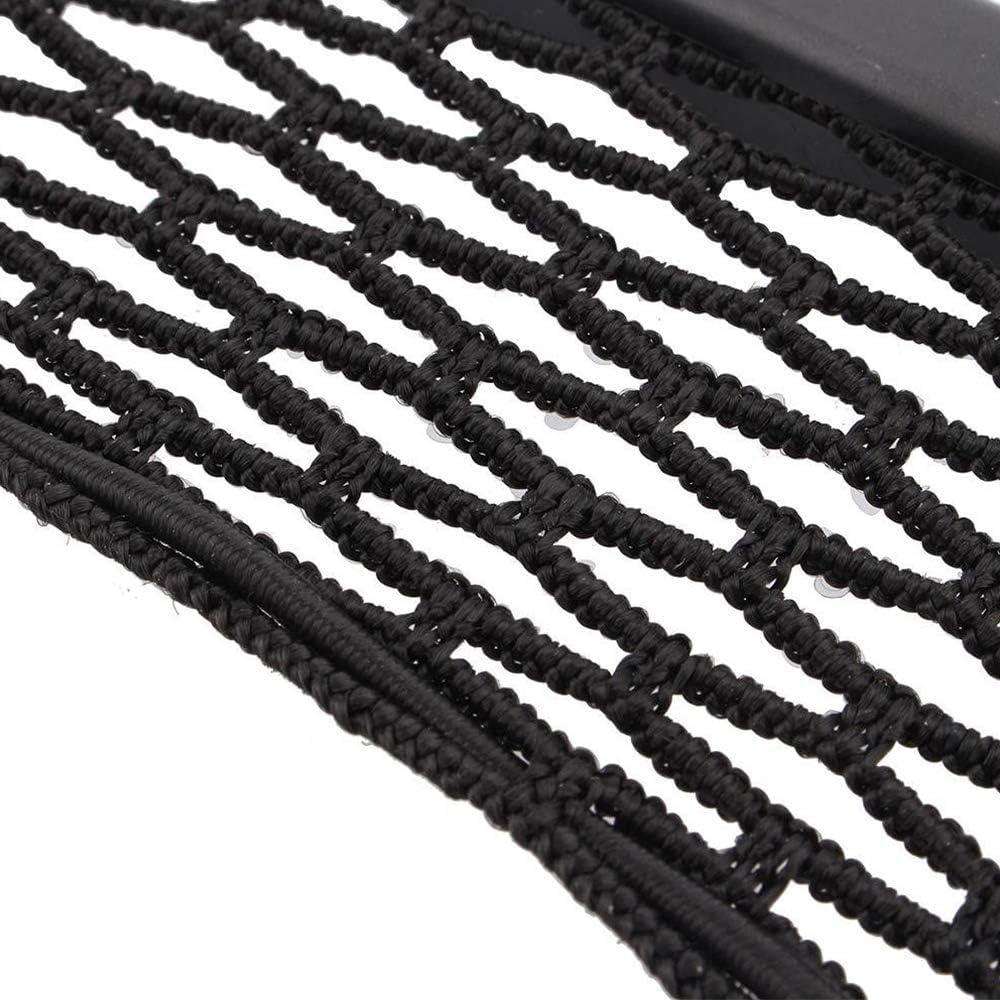 Xinlie Trunk Storage Net Noir Universel pour Coffre de Voiture en Maille Noir Organisateur Coffre Voiture en Maille Filet de Rangement de Voiture /Élastique Net pour Le Camion de Voiture 4 Pi/èces