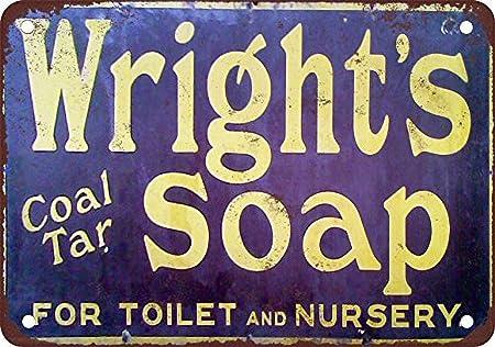 SALWON Wright as Coal Tar Soap -Cartel De Chapa Advertencia ...
