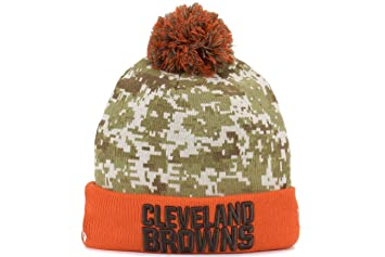 Cleveland Browns New Era 2015 NFL Sideline  quot Salute to Service quot   Sport Knit Hat 18460c23f