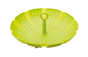 Kitchencraft 24cm Universal Silicone Steaming Basket Insert In Lime Green