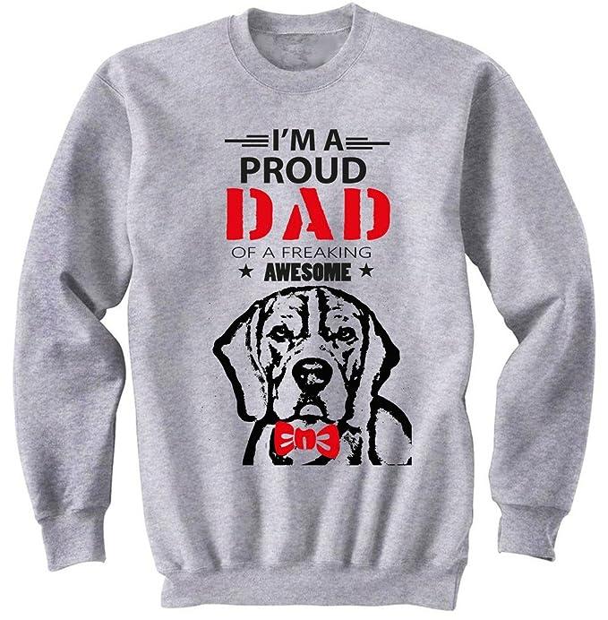 teesquare1st Beagle - IM A Proud Dad Gris Sudadera: Amazon.es: Ropa y accesorios