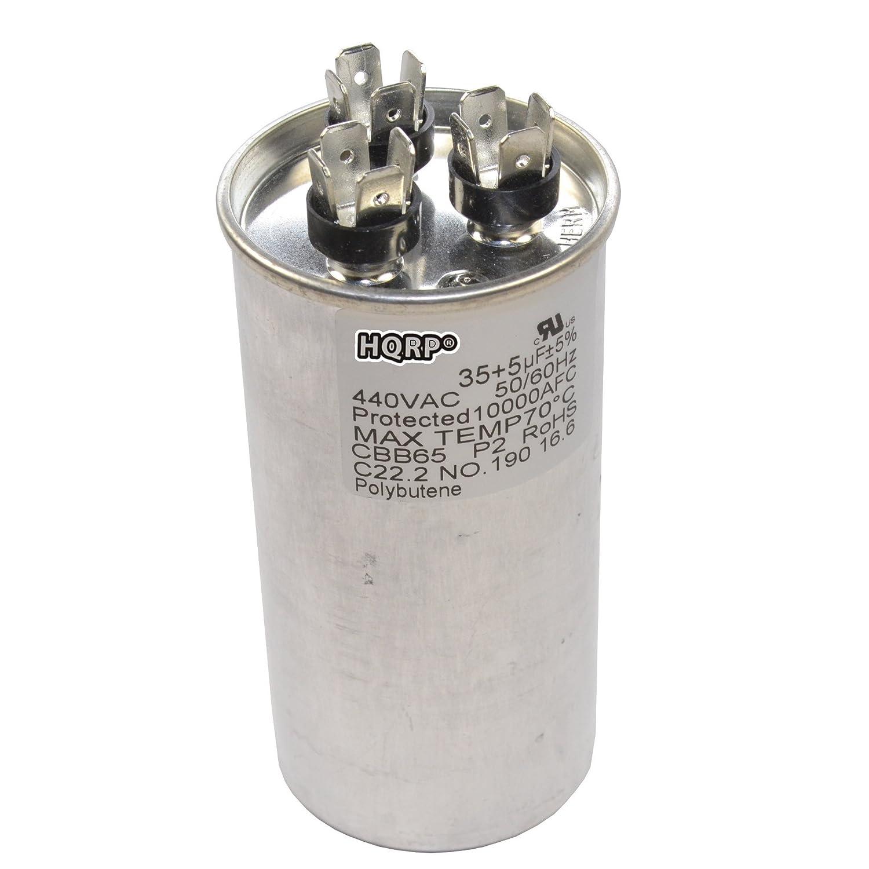 HQRP 150uF 250V Run Capacitor Works with AC Electric Motor Start HVAC Blower Compressor Pump 150MFD CD60 Plus HQRP Coaster