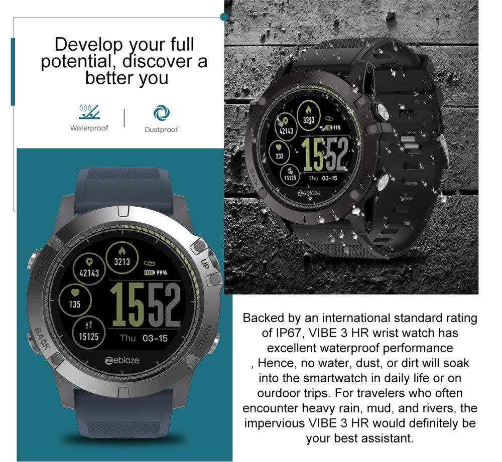 Amazon.com: Cywulin Zeblaze Vibe 3 HR Smart Watch Fitness ...