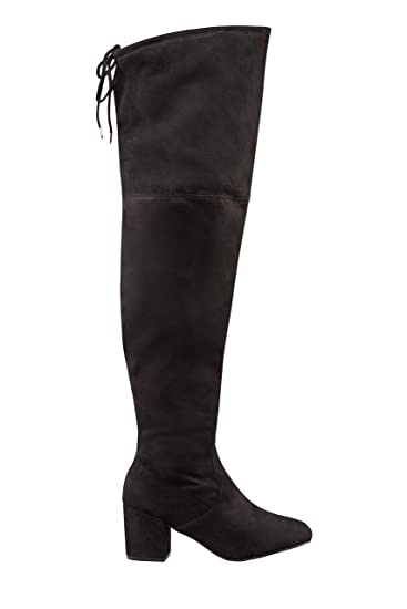76c51620c05 Yours Clothing Wide Fit Women s Over The Knee Boots in Eee Fit Size 5EEE  Black