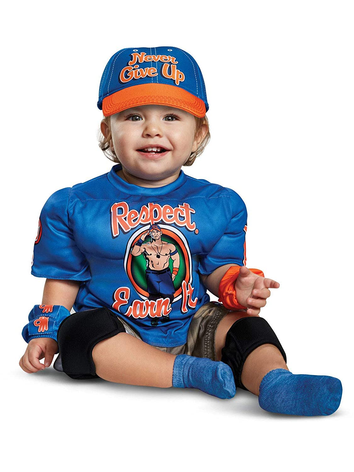 Disguise John Cena Toddler Muscle Child Costume, Blue, Size///(2T ...