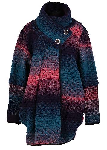 Gracious Girl - Abrigo - capa - para mujer azul verdoso Talla única
