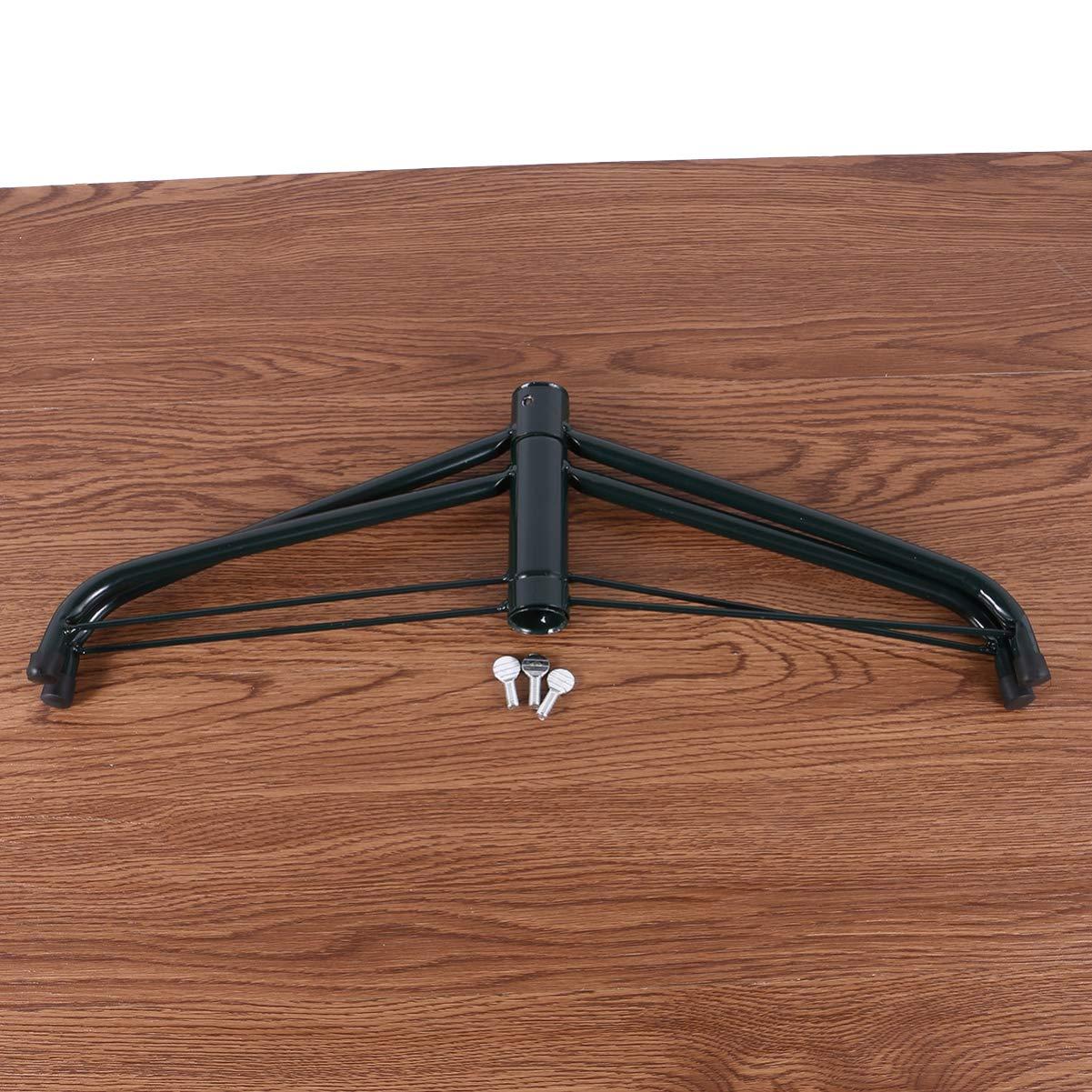 Amosfun 35cm Arbre de no/ël Pied 4 Pied Artificiel de Remplacement Arbre Pliant Support en m/étal Base Support d/écoration de no/ël Accessoires