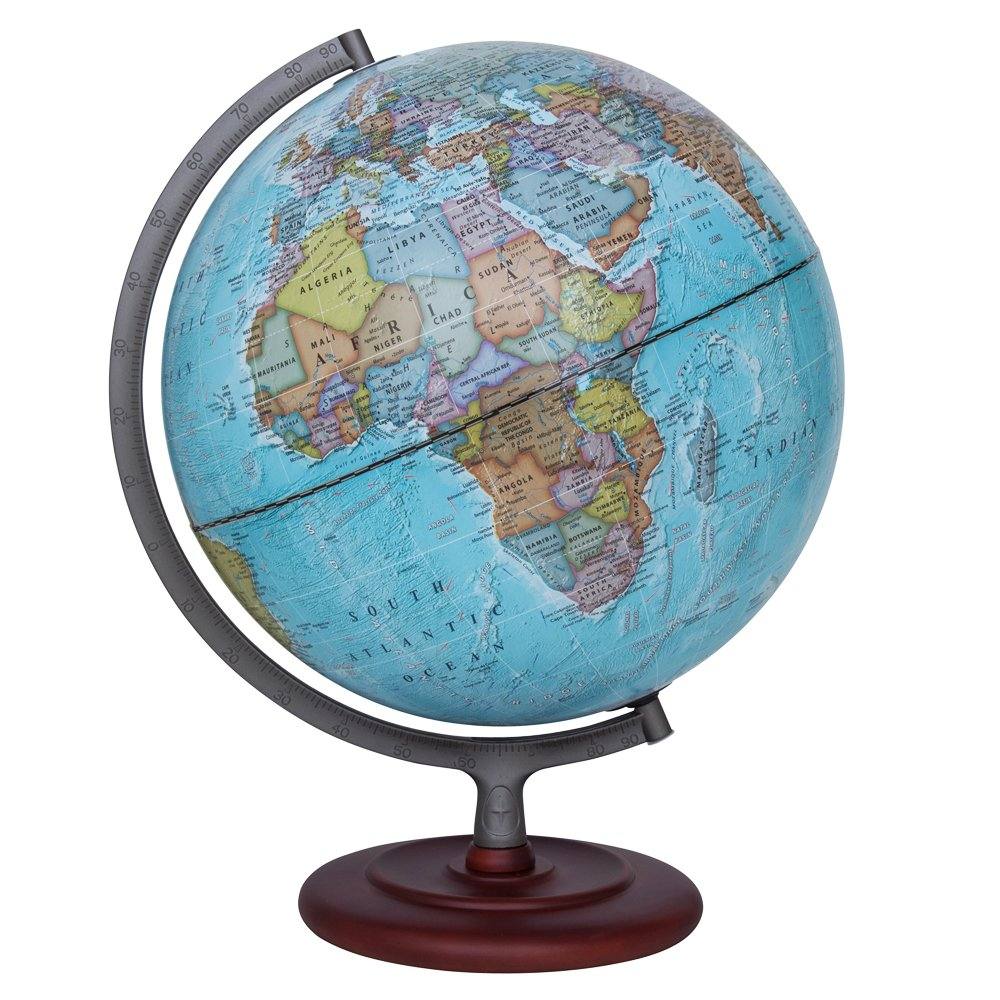 Waypoint Geographic Light Up Globe - Geographic Mariner 12'' Desk Decorative Illuminated Globe with Stand, up to Date World Globe by Waypoint Geographic