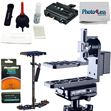 2baaf5457cc Glidecam Tru-Horizon Motorized Gimbal + Hand-Held Stabilizer + Cleaning Kit  + Adapter + Replacement Battery + Cleaning Cloth: Amazon.ca: Camera & Photo