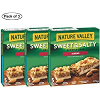 Sweet and Salty Almond, 5 Count, 175 Gram (Pack of 3) by Nature Valley