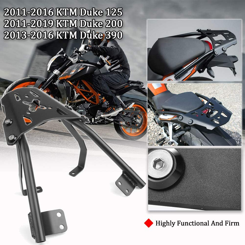 FATExpress Duke125 Duke200 Duke390 Moto Equipaje de aluminio Soporte de guardabarros trasero superior con hardware para Duke 125 200 390 2011 2012 2013 2014 2015 2016 2017 2018 2019: Amazon.es: Coche y moto