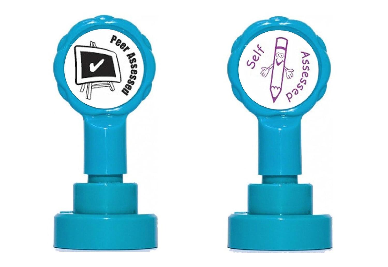 Peer Beurteilt & selbst Beurteilt selbstfärbende Teacher Gummi-Stempel-Set, re-inkable