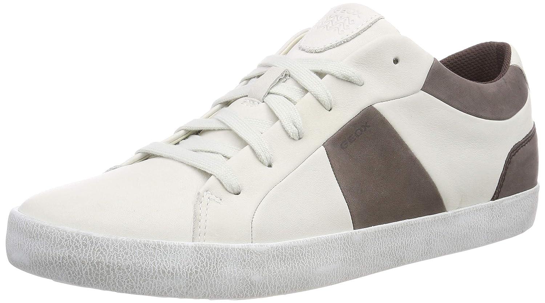 Geox U Smart B, Zapatillas para Hombre 43 EU|(White/Coffee C0231)