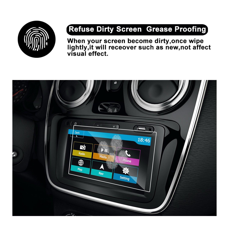RUIYA Protector de pantalla de vidrio templado Dacia Media Nav sistema de navegación,Crystal Clear HD Protector de pantalla-7 Pulgadas