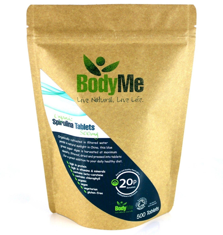 BodyMe Organic Spirulina Tablets | 500 x 500mg | Soil Association Certified by BodyMe (Image #1)