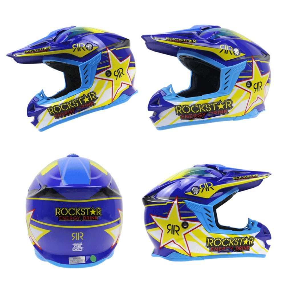 DGF ヘルメットプロフェッショナルモトクロスダウンヒルヘルメットマッドカーオートバイレーシングヘルメットプルヘルメット7調整可能なソケットフルカバータイプ (色 : Blue, サイズ さいず : M) B07FNQP1JT Medium Blue Blue Medium