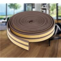 MMT Acoustix® Soundproofing Door/Window EPDM Strip Door Seal 18 ft Brown D Shape