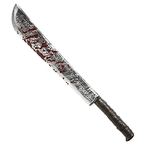 WIDMANN Bloody Machete 75 Cm Novedad Arma y Armadura de Accesorios para Halloween Fancy Dress Up Disfraces y Trajes