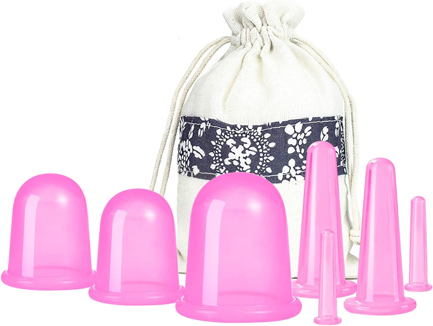 Cupping Therapy Sets 7Pcs Silicone Anti Cellulite Cup by 500-miles