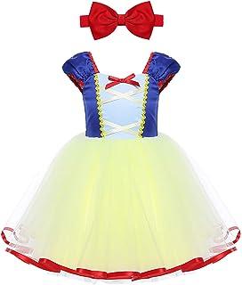 dd329bbe1d8c8 iiniim Déguisement Princesse Blanche Neige Robe Bébé Fille Tulle Robe  Courte Halloween Carnaval Noël Partie Costume