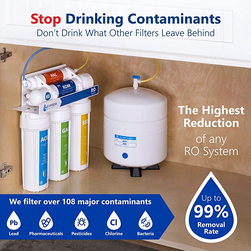 Express Water RO5DX - Removes up to 99% contaminants