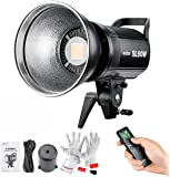 Godox SL-60W, Upgrade Version 60W CRI95+ Qa>90 5600±300K Bowens Mount High Power Led Continuous Video Light - Wirelessly Adjust Brightness, 433MHz Grouping System(6 Groups & 16 Channels)
