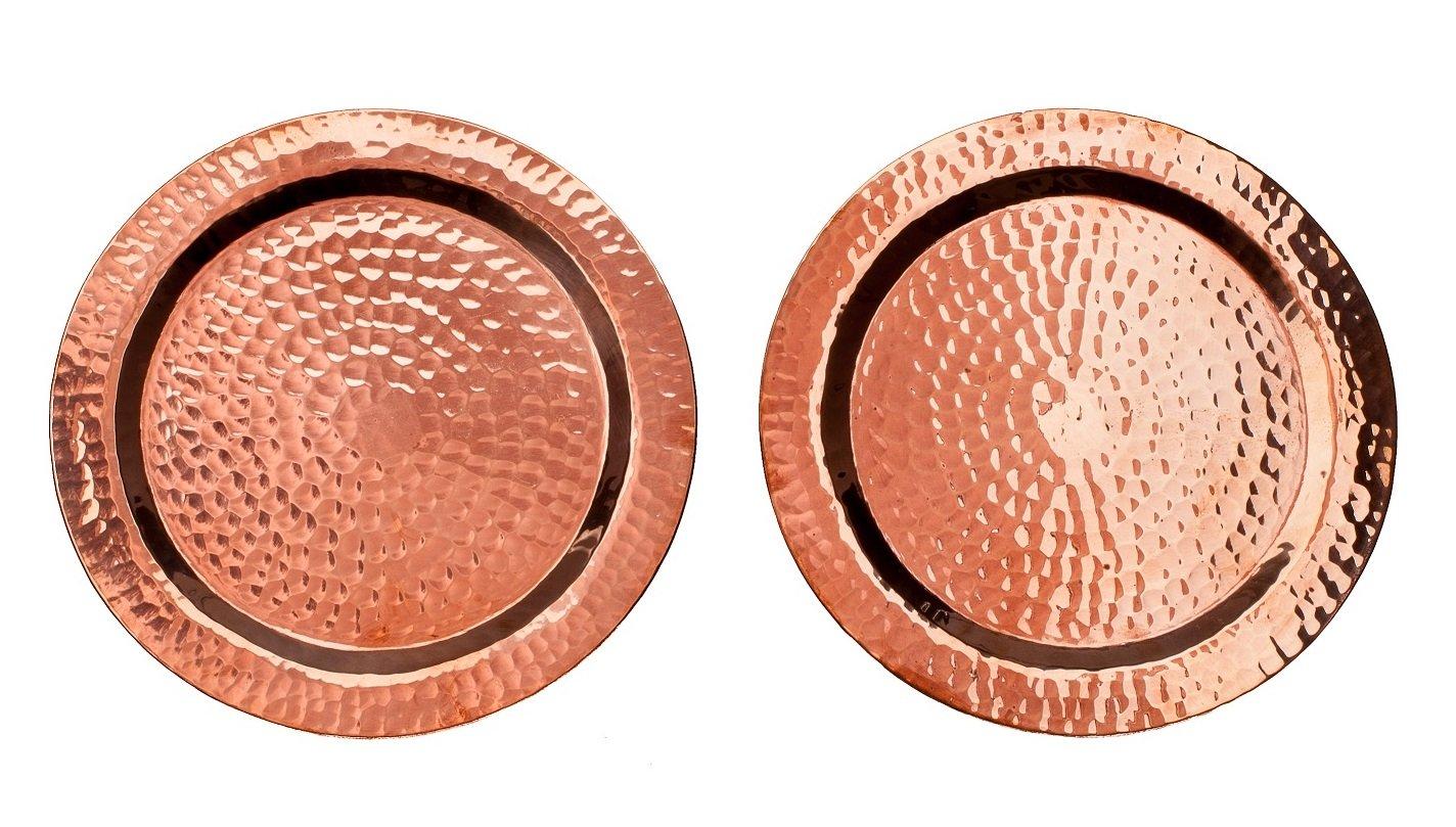 Sertodo Copper, Round Napa Bottle Coaster, Hand Hammered 100% Pure Copper, 5.5 inch diameter, Set of 2 by Sertodo Copper