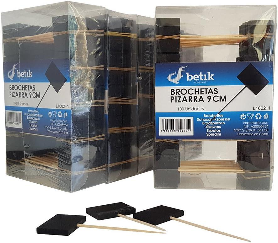 Pinchos con pizarra (caja de 100 unidades): Amazon.es: Hogar