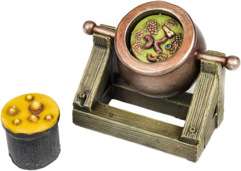 Table Top Mini Cauldron 3D Printed in Resin