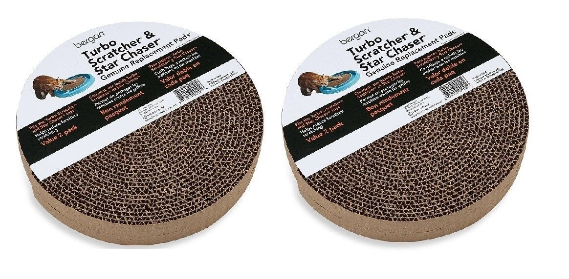 Bergan Turbo Scratcher Star Chaser Replacement Cat Scratch Pad Refill4PK by unbrand