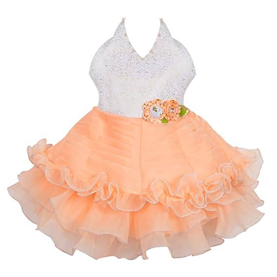 a3ab712e5d18f Wish Karo Baby Girls Party Wear Frock Dress DN (fe2452rd)  Amazon.in ...