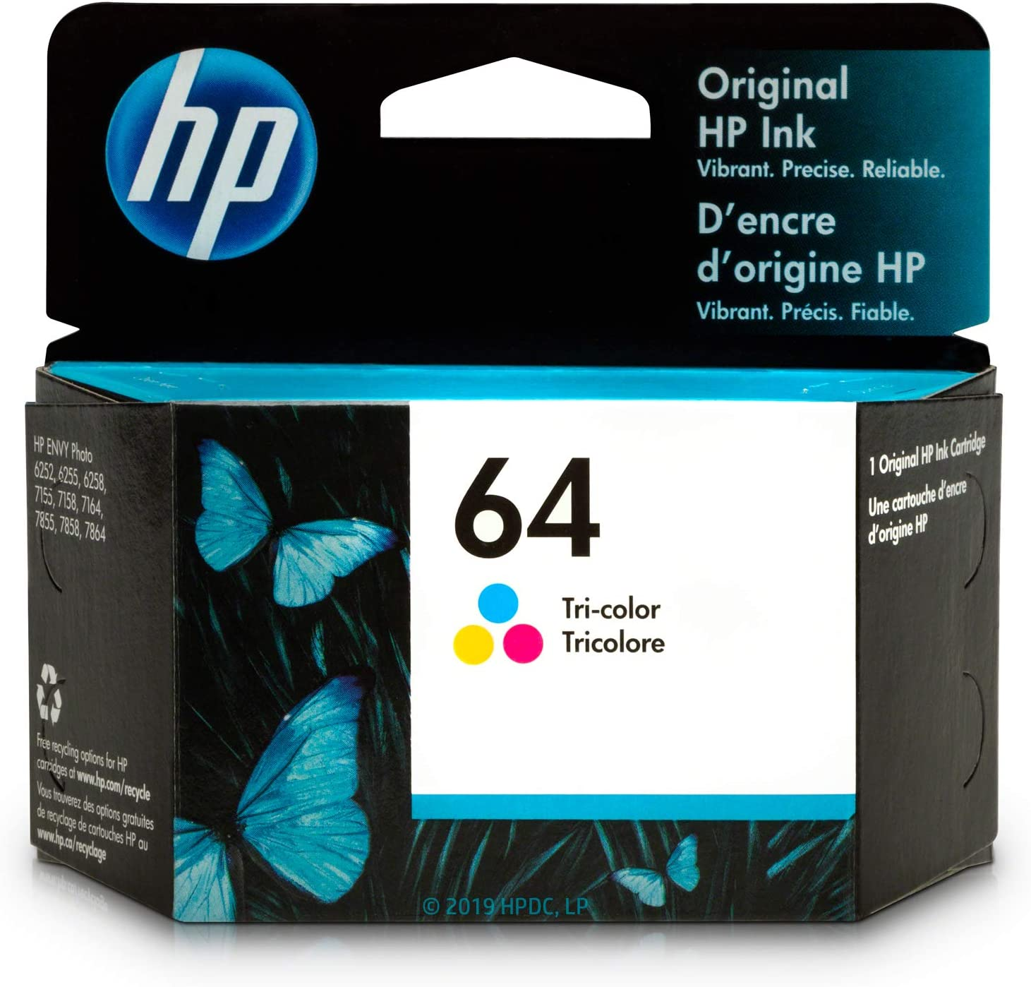 HP 64 | Ink Cartridge | Tri-Color | N9J89AN