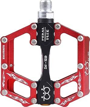 CNC Pedales de Bicicleta Aluminio Plataforma del pedal de la bici para el MTB, Carreras, BMX con Sealed los cojinetes pedal para bicicleta soporte de pedal 9/16