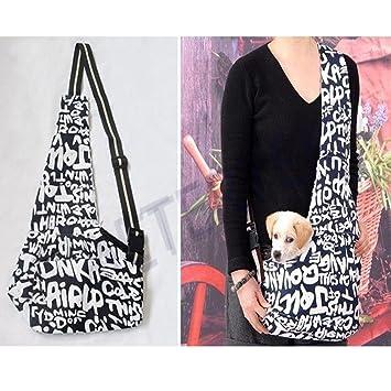 Amazon.com: Generic Oxford tela Sling Pet Perro Gato Bolsa ...