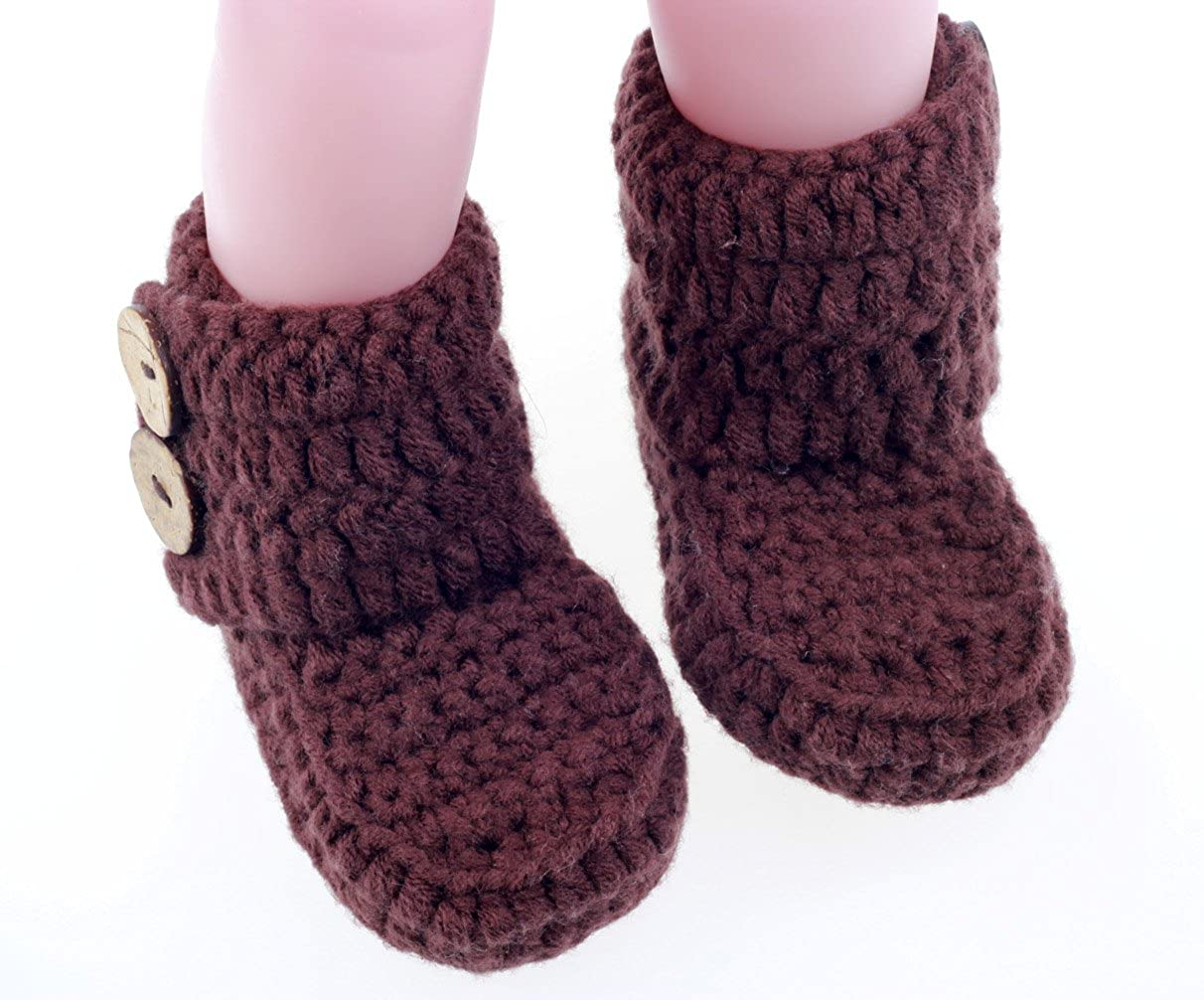 Amazon.com: bestknit Crochet Baby Booties recién nacido ...