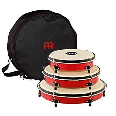 Meinl Percussion PL-SET Traditional Frame Drum Set with Bag: 8, 10, and 12-Inch, Red: Musical Instruments