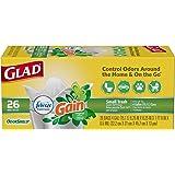 Glad Small Trash Bags - OdorShield 4 Gallon White Trash Bag