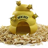 Alfie Pet by Petoga Couture - Bumble Bee Hideout Hut for Small Animals like Dwarf Hamster and Mouse
