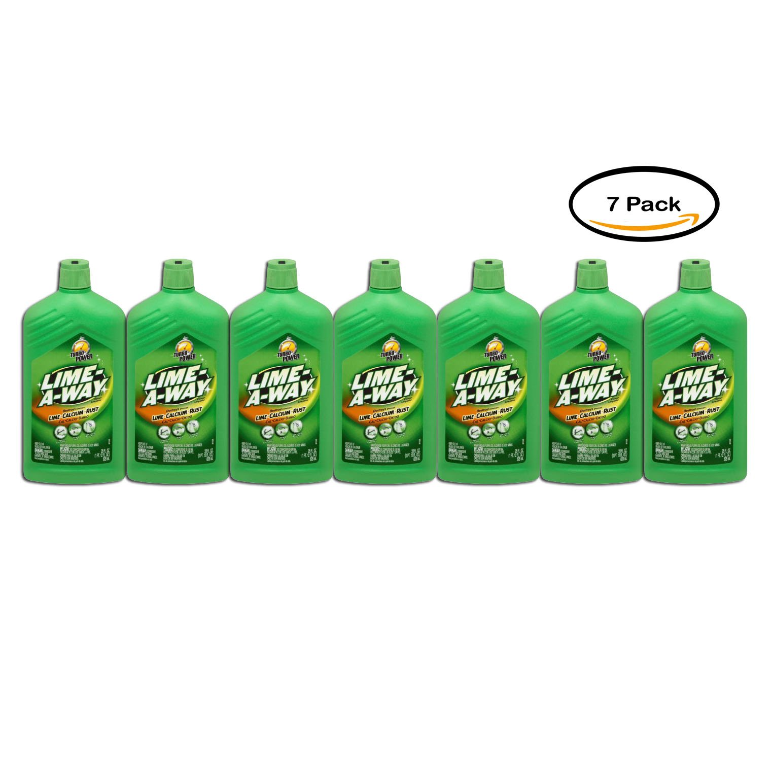Pack of 7 - Lime-A-Way Lime Calcium Rust Cleaner, 28 Fl Oz by Lime-A-Way