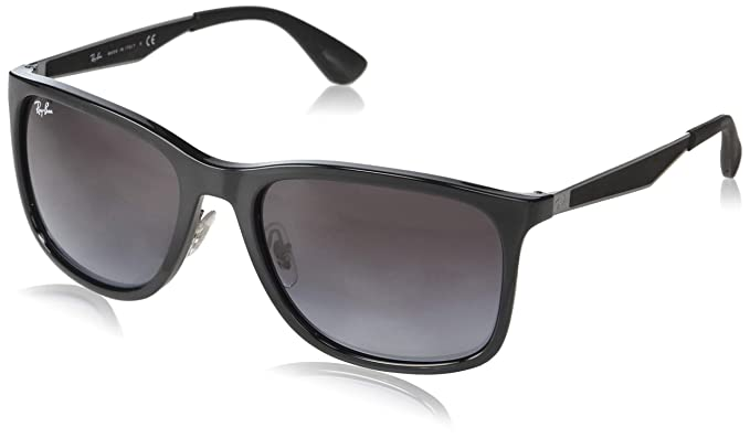 Amazon.com: Ray-Ban Mens 0rb4313 Cateye Sunglasses BLACK 57.8 mm ...