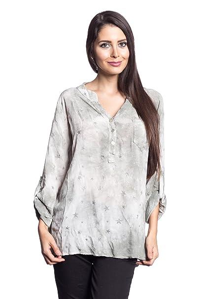 Abbino 68012B2 Blusa Top para Müjer 9 Colores - Verano Otoño Invierno Mujeres Femeninas Elegantes Formales