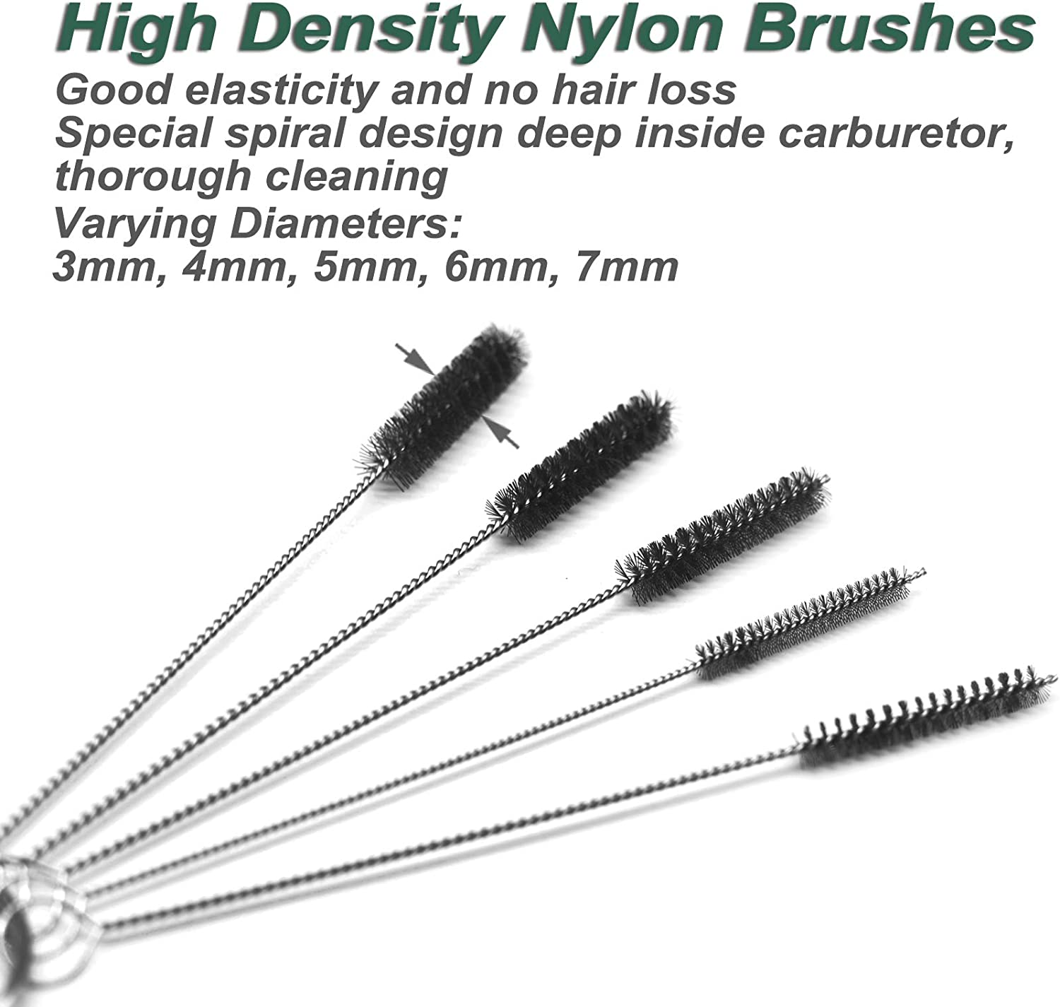 Carburetor Carbon Dirt Jet Remove Cleaner Tool Kit 10 Cleaning Needles with 5 Brushes for Car, Outboard Motor, ATV, Motorcycle Carb Jets: Automotive