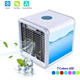NovoGifts Personal Space Air Cooler Conditioner and Humidifier - Portable Desktop Cooling Fan - Quick & Easy to Cool Any Space As Seen On TV for Desk Office and Camping