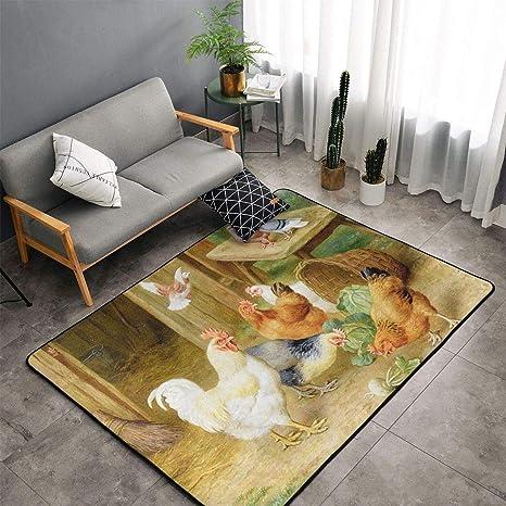 Rooster Non-Slip Door Mat Bathroom Toilet Rug Bedtoom Carpet Bath Mats Home Deco